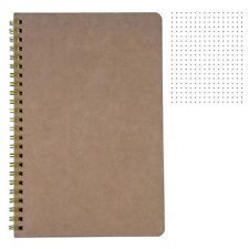 "Big Dotted Notebook B5 - Spiral Dot Grid Paper Notebook - Tan Cover 7.5""X10.5"""
