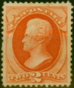 U.S.A. 1870 2c Pale Red-Brown SG148 Fine Unused