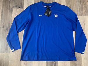 Men's Nike Kentucky Wildcats Long Sleeve Crewneck Sweatshirt Size 4XL NEW