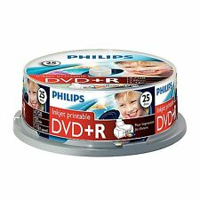 Philips DVD+R Inkjet Printable 120MIN 16X 4.7GB - 25 Pack Spindle