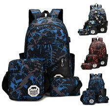 Men Women USB Port Backpack Laptop Travel Shoulder School Book Bag Rucksack