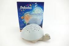 Pabobo Nachtlicht mit Musik Sternenprojektor Schildkröte Grau