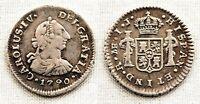 Carlos IV. 1/2 Real. 1790 Lima. Busto Carlos III. VF+/MBC+ Plata 1,6 g. Muy rara