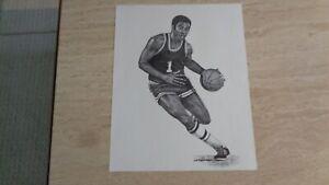 1970's Landsman Art Portrait - Oscar Robertson - NBA - Cincinnati Royals / Bucks