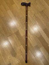 New listing Vintage Wooden Cane with Carved Fish on Top. 36� Tall. Very Nice!