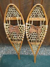 "GREAT SNOWSHOES 36"" Long x 11"" Wide with Leather Bindings READY TO USE"