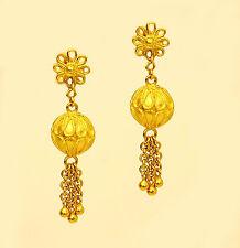 22k 22kt solid gold drop dangling earring  #33