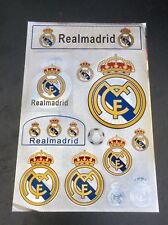 Real Madrid FC Stickers Set A4 Size Great For Car/Window /Home Use