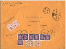 STORIA POSTALE 1957 - 2001 - 9 DIVERSI DOCUMENTI TASSATI CON 35 SEGNATASSE € 739