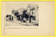 cpa Edition CARTON La VARENNE CHENNEVIÈRES CABARET de l' ÉCU de FRANCE Dos 1900