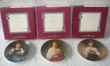 "BEAUTIFUL SET OF 3 ""THE BEAUTY OF BOUGUEREAU"" COLLECTOR'S PLATES NIB W/ COA"