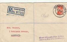 SOUTH AFRICA RANDFONTEIN 1943 REGISTERED COVER. Rfno.C258.