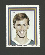 George Morrison #191  St. Louis Blues 1971-72 Eddie Sargent Hockey Stamp