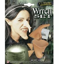 Kit Witch Ear Nose Chin Costume Adult Woman Suit Halloween New