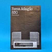 Rema Adagio 830 Stereo-Großsuper DDR 1973   Prospekt Werbung DEWAG Werbeblatt G