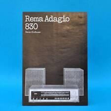 Rema Adagio 830 Stereo-Großsuper DDR 1973 | Prospekt Werbung DEWAG Werbeblatt G