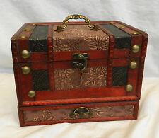 Chinese Wedding Chest Style Wooden Jewellery Box - BNIB