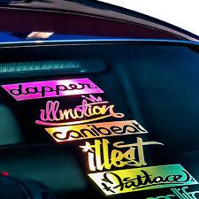30 cm Aufkleber Heck Sticker Autoaufkleber Hologramm Slick oil Farben Edition