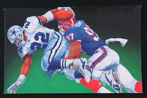 1993 Super Bowl XXVII Dallas Cowboys Buffalo Bills NFL Football Robley Post Card