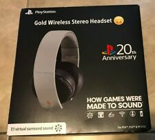 Sony PlayStation 4 Gold Wireless Stereo Headset 20th Anniversary Edition Gray
