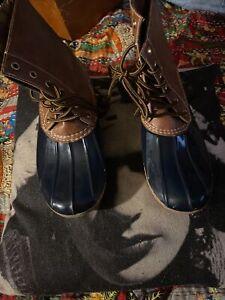 YOKI DYLAN Smooth Camel Duck Rain Boots Size 10