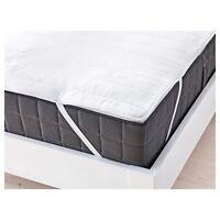 Ikea ÄNGSVIDE Mattress Protector Topper,Poly Cotton, SINGLE SIZE 80X200 CM