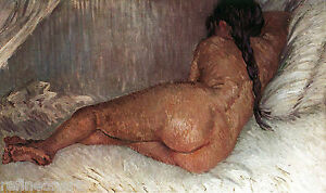 Nude Woman Reclining, Seen from the Back - Vincent van Gogh Giclee  Canvas Print