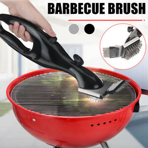 Stainless Steel BBQ Grill Cleaning Tools Outdoor Barbecue Picnics Brush Cleaner
