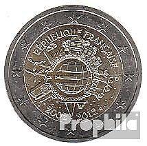 Frankrijk 2012 Stgl./ongecirculeerd 2012 2 Euro 10 Years Euro Cash
