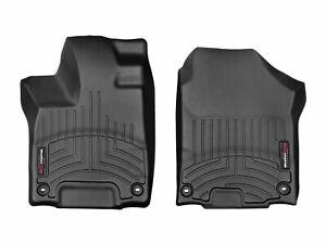 WeatherTech Floor Mats FloorLiner for Honda Pilot 2016-2021 1st Row Front Black