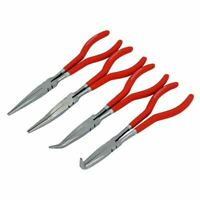 "4 Piece 11"" Mechanics Engineers Super Long Nose Pliers Hand Tool Plier Set"
