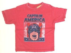 Marvel Comics Boy's Toddler Captain America Graphic Character T-Shirt Size 3T