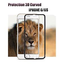 Vitre de protection iphone 6/6S 3D Bord Incurvé verre trempé ESS TECH® Noir