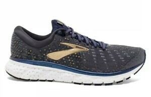 Brooks Glycerin 17 - size 8.5 D - Grey / Navy / Gold - Free Shipping