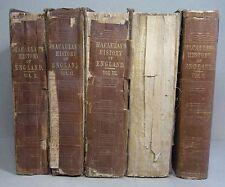 MACAULAY: HISTORY of ENGLAND, 5 Vol., 1st Ed. 1849-1861, Widmung E. HANFSTAENGL