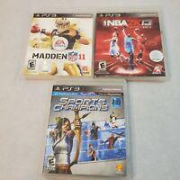 Playstation 3 sports lot madden 11 NBA 2k 13 NFL Football PS3 video games
