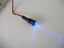Azul LED 12 V (5 MM) con Bisel Negro