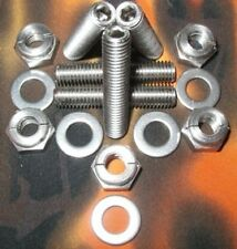 Rover T Series Engine Stainless Exhaust Studs +Aerotight All Metal Locking Nuts