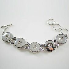 Fits Ginger Snap GINGER SNAPS Five BRACELET Magnolia Vine JEWELRY 18mm Button