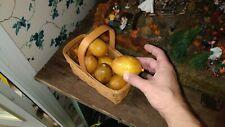 Decorative wooden lemons