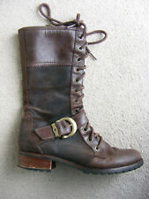 Timberland Womens Boots UK 5W (Eu 38) Ladies Girls Brown colour Real Leather