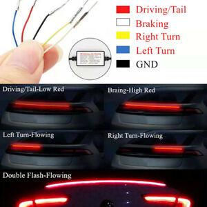 LED Car Rear Trunk Spoiler Tail Wing Light Brake Light Turn Signal Running Lamp
