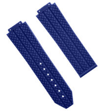 24MM TIRE RUBBER WATCH STRAP BAND FOR H 44-45MM HUBLOT BIG BANG WATCH BLUE