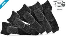 Velcro Cable Wrap 6 In Ties Black Lot Of 50 Wire Management Strong And Reusable