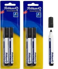 PELIKAN PERMANENT MARKER 407 F BLACK  INK 1.5mm ROUND TIP 4 PCS IN BLISTER CARD