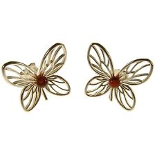 Baltic Amber Sterling Silver 925 Ladies Stud Flower Shaped Earrings Jewellery