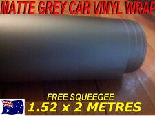 OZ Matte Grey Car Vinyl Wrap,Roll,Sticker 1520mm X 2000mm,Squeege,Brand New