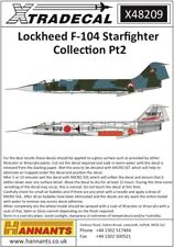 NEW 1:48 Xtradecal X48209 Lockheed F-104 Starfighter Collection Pt.2