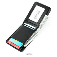 Men's RFID Blocking Cowhide Leather Classic Bifold Credit Card ID Holder Wallet