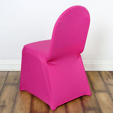 6 Fuchsia Spandex Chair Covers for Wedding Banquet Party Reception Decorations